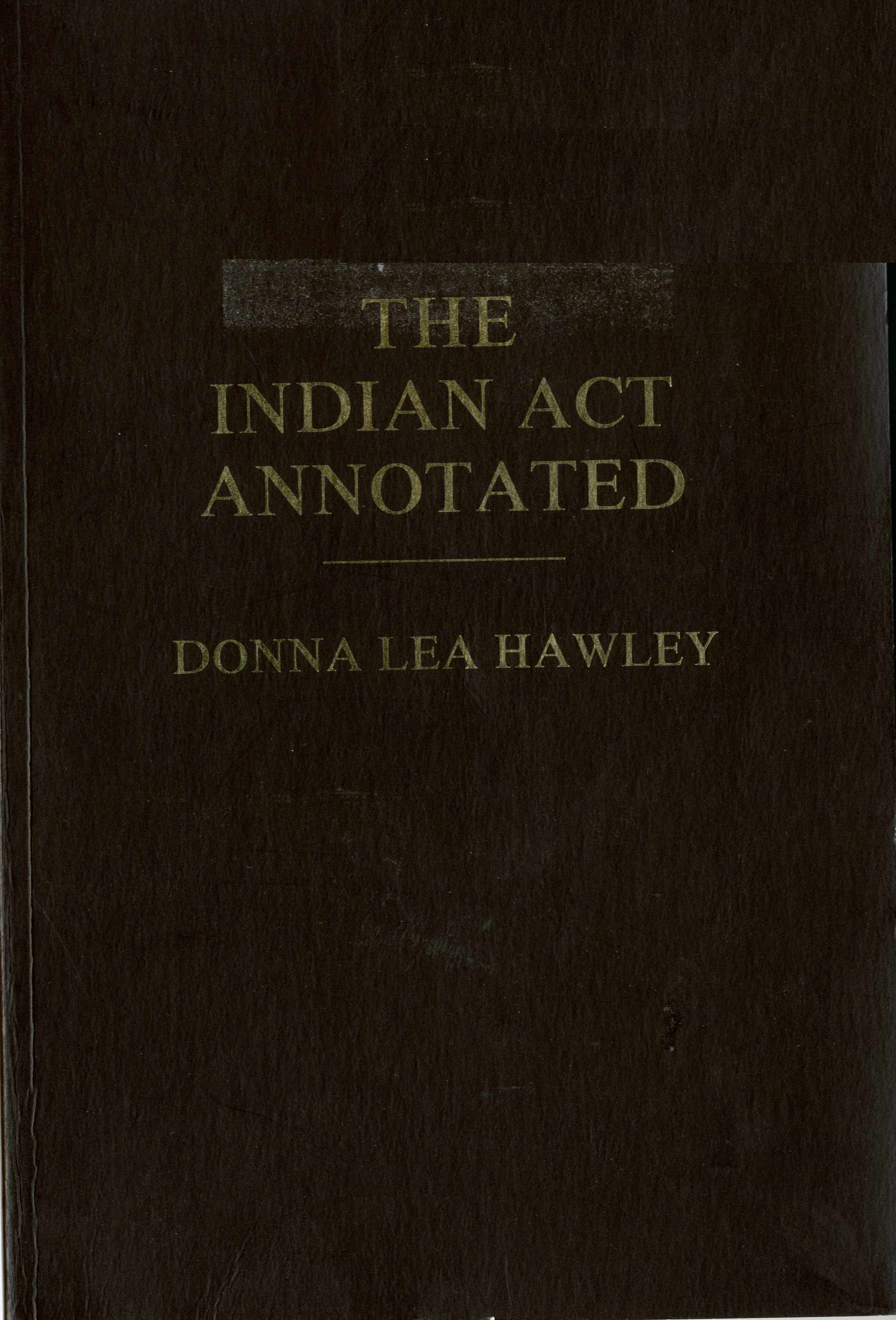 The Indian Act Image