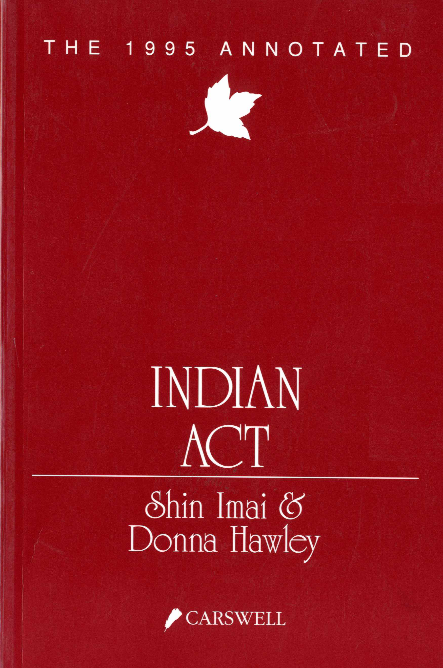The 1995 Annotated Indian Act Image