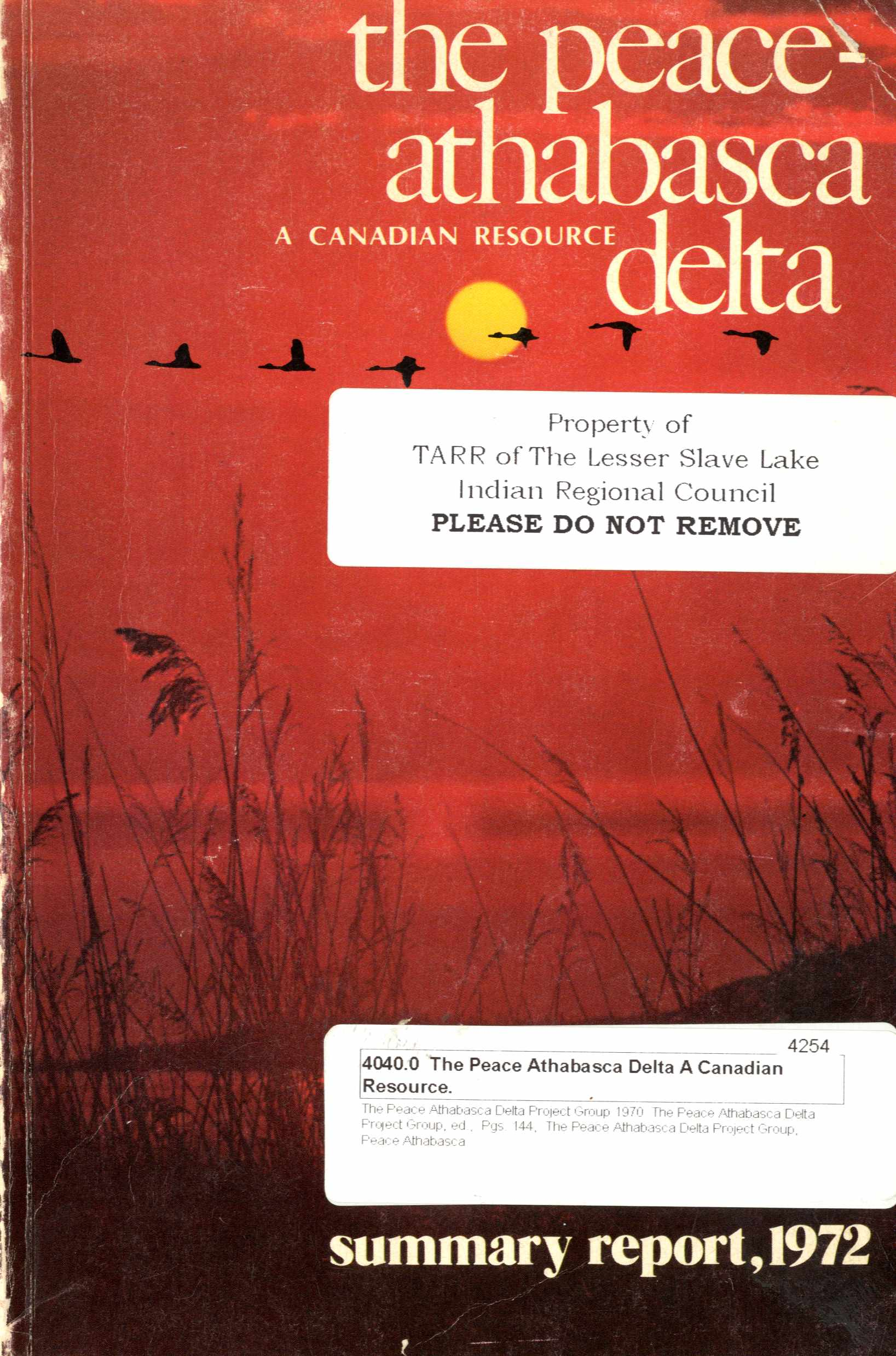 The Peace-Athabasca Delta: A Canadian Resource Image