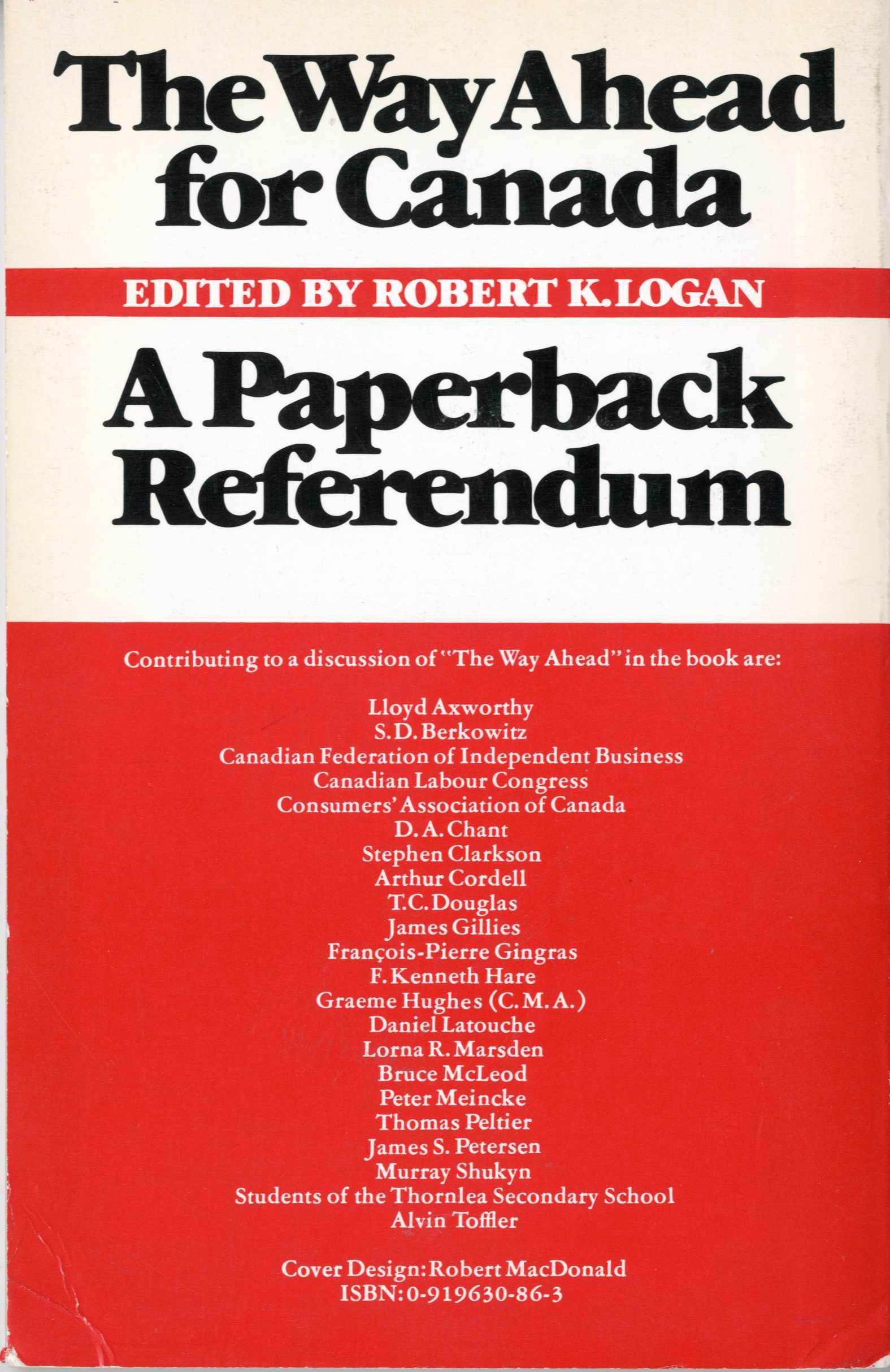 The Way Ahead for Canada: A Paperback Referendum Image
