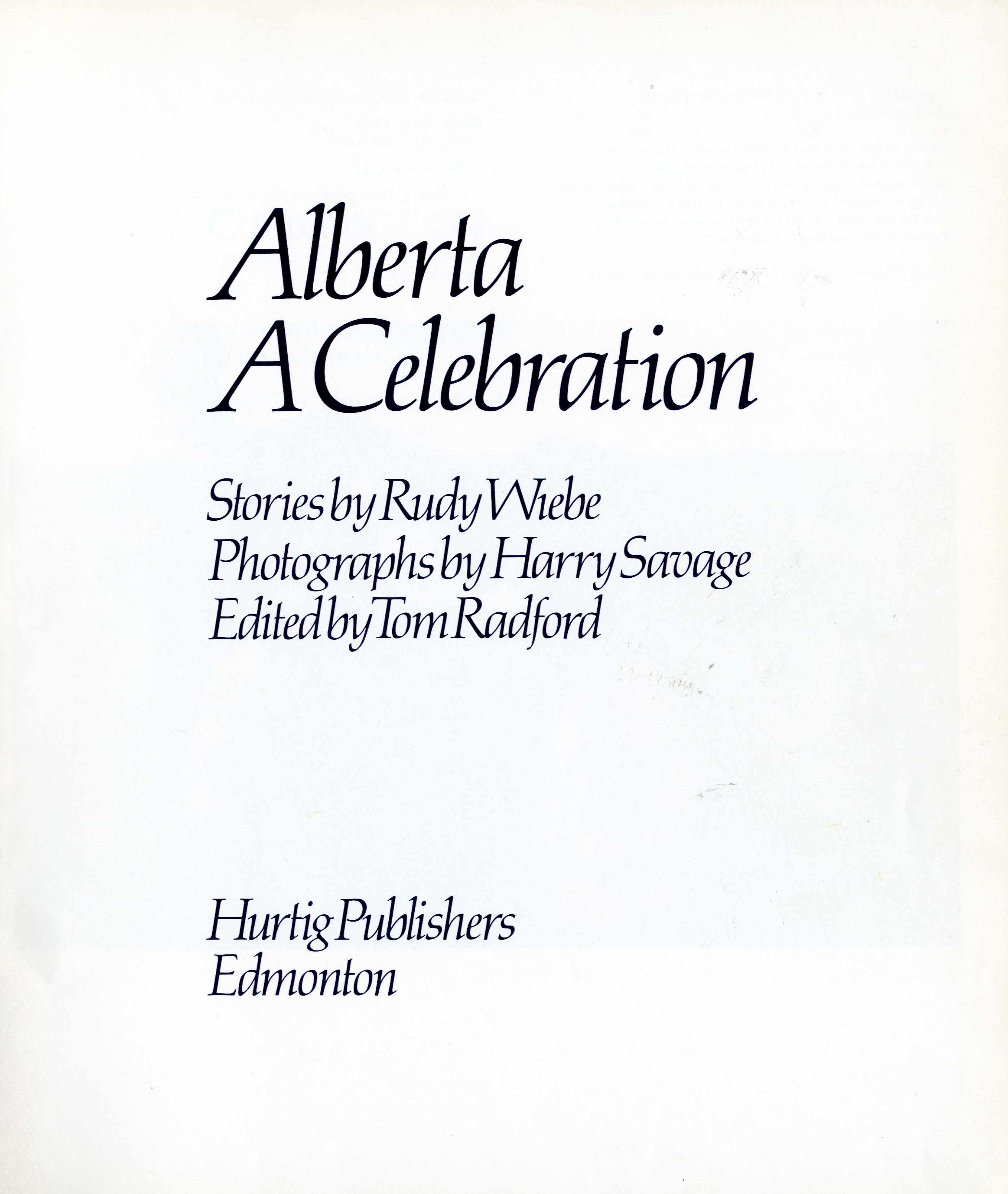 Alberta: A Celebration Image