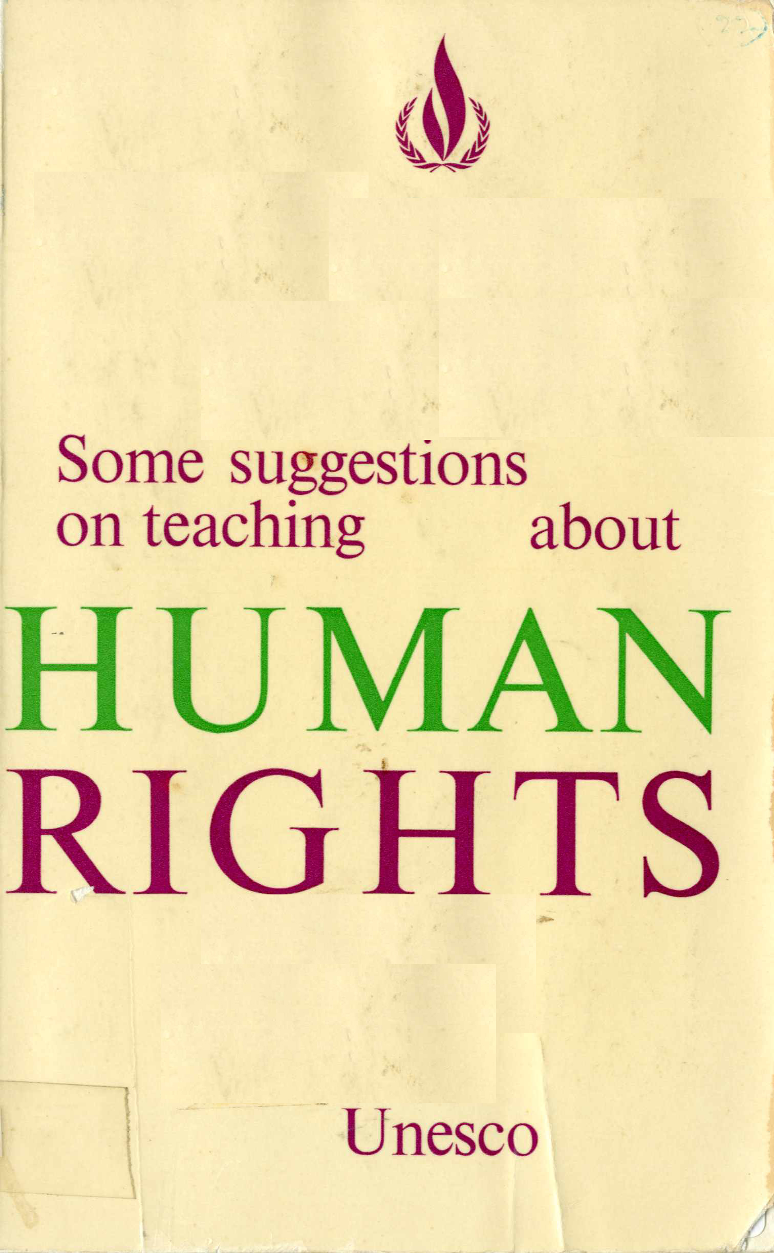 Some Suggestions on Teaching about Human Rights Image