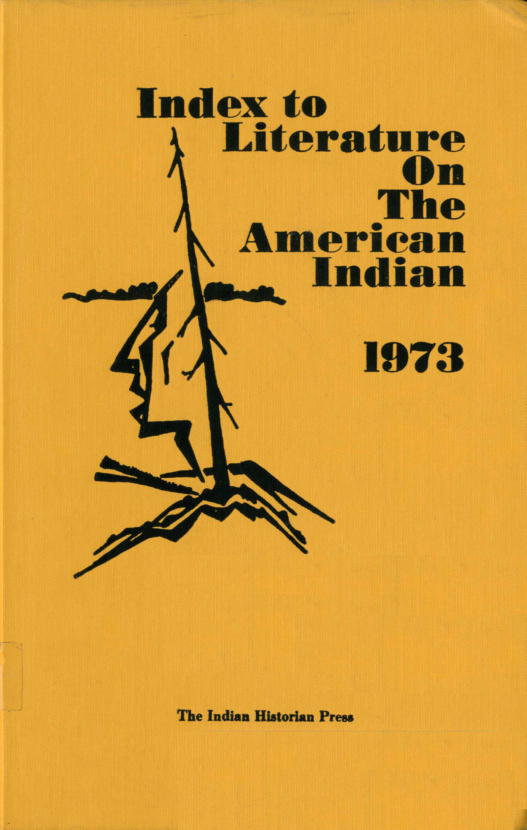 Index to Literature on the American Indian 1973 Image